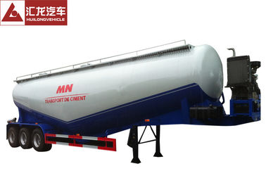 11500x2500x4000 Mm Dry Bulk Trailer , Lime Powder Pneumatic Sand Trailer High Adaptability