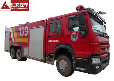 Foam Large Fire Truck Howo 276kw Max Power 6x4 Driving Type 9 Forward Gear